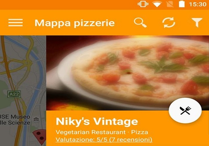 Mobile app for the takeaway pizza business